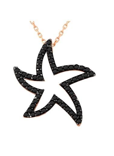 Argentum Concept Siyah Taşlı Deniz Yıldızı Kolye Renkli